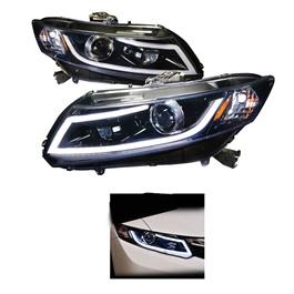 Honda Civic Headlights / Head Lamps with DRL - Model 2012-2016-SehgalMotors.Pk