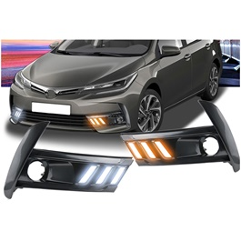 Toyota Corolla Mustang Style Face Lift DRL Cover - Model 2017-2020-SehgalMotors.Pk