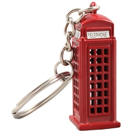 Telephone Booth Metal Key Chain / Key Ring - Red-SehgalMotors.Pk