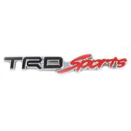 TRD Sports Metal Logo - Black and Red   Emblem   Decal   Monogram   Logo-SehgalMotors.Pk