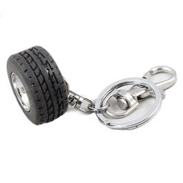 Tire / Tyre metal Key Chain / Key Ring - Black-SehgalMotors.Pk