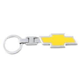Chevrolet Logo Metal Key Chain / Key Ring - Yellow-SehgalMotors.Pk