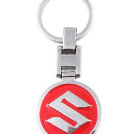 Suzuki Logo Metal Key Chain / Key Ring Red | Key Chain Ring For Keys | New Fashion Creative Novelty Gift Keychains-SehgalMotors.Pk