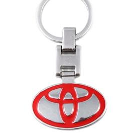 Toyota Logo Key Chain / Key Ring Red Chrome | Key Chain Ring For Keys | New Fashion Creative Novelty Gift Keychains-SehgalMotors.Pk