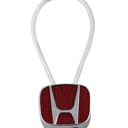 Honda Logo Key Chain / Key Ring Red Chrome   Key Chain Ring For Keys   New Fashion Creative Novelty Gift Keychains