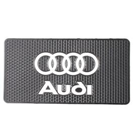 Audi Logo Dashboard Non Slip / Anti-Skid Mat    Dashboard Cleaner   Interior Cleaner Polish For Dashboard   Automobile Panel Dashboard Wax Cleaner-SehgalMotors.Pk