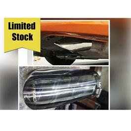 Honda Civic X Exhuast Tip - Model 2016-2020  | Universal Car Exhaust Muffler Car Tail Throat Liner Pipe | Universal Car Auto Exhaust Muffler Tip Stainless Steel Pipe Chrome Trim Modified Car Rear Tail Throat Liner Accessories-SehgalMotors.Pk