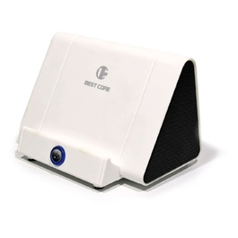 Wireless Phone Magic Speaker White Color | Smart Mini Speaker Gift Magic Wireless Audio Portable Intelligent Induction Phone Stand Holder Home Amplifier Super Bass Outdoor-SehgalMotors.Pk