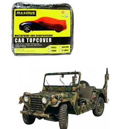 Jeep CJ 5 Maximus Non Woven Scratchproof Waterproof Car Top Cover - Model 1959-1982-SehgalMotors.Pk