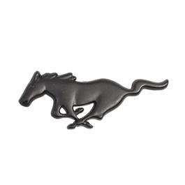 Mustang Metal Monogram Black -Each | Emblem | Decal | Monogram | Logo