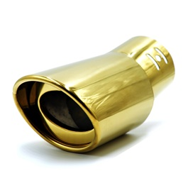 Gold Plated Steel Muffler Burn Tip 4S - G14 | Universal Car Exhaust Muffler Car Tail Throat Liner Pipe | Universal Car Auto Exhaust Muffler Tip Stainless Steel Pipe Gold Trim Modified Car Rear Tail Throat Liner Accessories-SehgalMotors.Pk