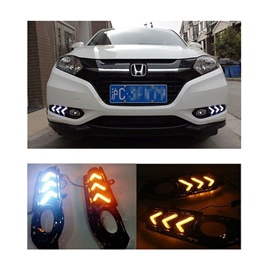 Honda Vezel Fog Lamps / Fog Lights DRL Covers Mustang Style - Model 2013-2017-SehgalMotors.Pk