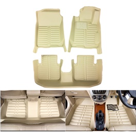 Honda City 5D Custom Floor Mat Beige - 2008-2018 | Car Interior Mats For Floor | Car Mats | Vehicle Mats | Foot Mat For Car | Custom Car Floor Mats