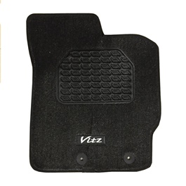 Toyota Vitz Irani Custom Tufted Floor Mat Black - Model 2010-2017-SehgalMotors.Pk