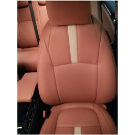 Honda Civic Seat Covers Brown with Single White Line - Model 2016-2020-SehgalMotors.Pk