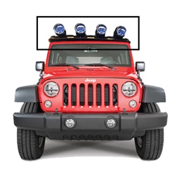 Jeep 4 in 1 Windshield Roof LED Bar-SehgalMotors.Pk