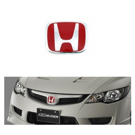 Mugen Honda City Front Logo Red (75700-SNW-003) - Each-SehgalMotors.Pk