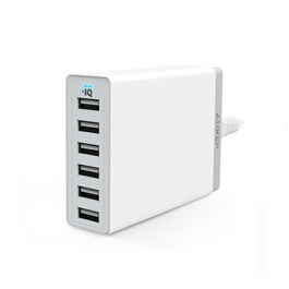 Anker PowerPort 60W 6 Port Mobile Charger - White-SehgalMotors.Pk