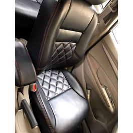 Honda City Seat Covers Black with Red Stitching - Model 2015-2017-SehgalMotors.Pk