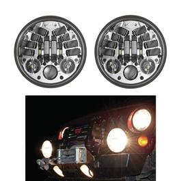 Spot LED Jeep Projection Headlights / Head Lamps-SehgalMotors.Pk