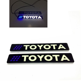 Flexible LED DRL with Toyota Logo – Pair | Daytime Running Lights | Car Styling Led Day Light | DRL Lamp-SehgalMotors.Pk