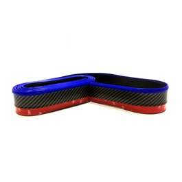 Rubber Lip Protector Carbon Fiber Black with Blue Tip-SehgalMotors.Pk