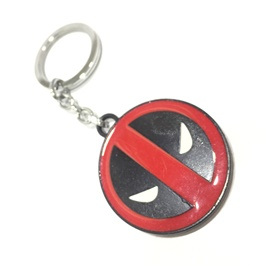 Dead Pool Metal Key Chain / Key Ring Red & Black-SehgalMotors.Pk