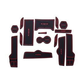 Honda Civic PVC Interior Mats Red - Model 2016-2020-SehgalMotors.Pk