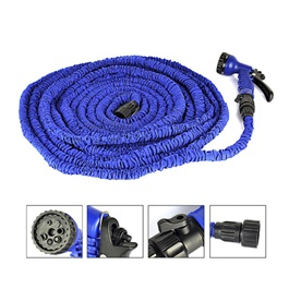 Car Washer Pipe Expandable with Different Functions Blue Color - 100-FT-SehgalMotors.Pk