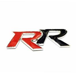RR Metal Monogram Red and Black   Emblem   Decal   Monogram   Logo-SehgalMotors.Pk