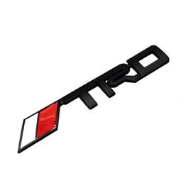 TRD Metal Monogram  Red and White   Emblem   Decal   Monogram   Logo-SehgalMotors.Pk