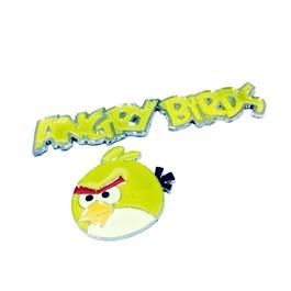 Angry Bird Metal Monogram Yellow   Emblem   Decal   Monogram   Logo-SehgalMotors.Pk