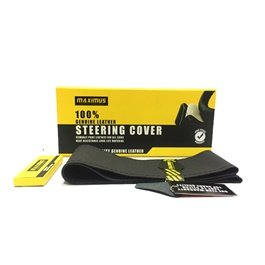Maximus Genuine Leather Steering Cover | With Thread & Needle | Heat Resistant | Long Life