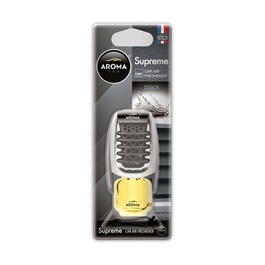 AROMA Supreme AC Dispenser Car Perfume Fragrance - Black-SehgalMotors.Pk