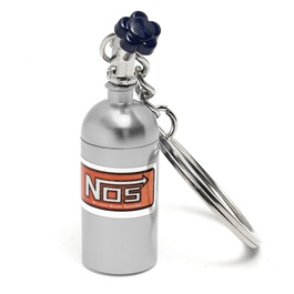 NOS Can Cylinder Shape Key Chain / Key Ring - Silver-SehgalMotors.Pk