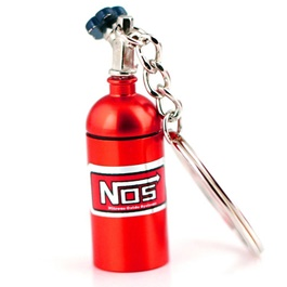 NOS Can Cylinder Shape Key Chain / Key Ring - Red | Key Chain Ring For Keys | New Fashion Creative Novelty Gift Keychains-SehgalMotors.Pk