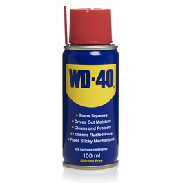 WD40 Anti-Rust Lubricant , Penetrating Oil and water-displacing spray - 100ml-SehgalMotors.Pk