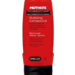 Mothers Professional Rubbing Compound - 12oz | Removes Heavy Swirl Marks, Scratches And Surface Blemishes | Smooth Slick Surface Polish | Flawless Shine Polish | Buffing Polish-SehgalMotors.Pk
