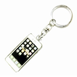 Special Iphone Style Silver Key Chain / Key Ring