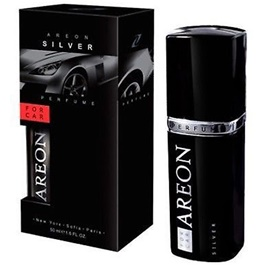 Areon Car Perfume Fragrance Silver - 50ML | Car Perfume | Fragrance | Air Freshener | Best Car Perfume | Natural Scent | Soft Smell Perfume-SehgalMotors.Pk