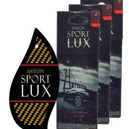 Areon Sport Lux Quality Perfume/Cologne Cardboard Car & Home Air Freshener - Silver-SehgalMotors.Pk