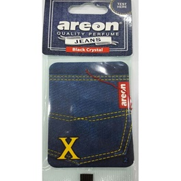 Areon Jeans Card Black Crystal Car Perfume Fragrance Air Freshener -SehgalMotors.Pk