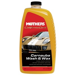 Mothers California Gold  Carnuba Wash Wax - 64 OZ  | Car Shampoo | Car Cleaning Agent | Car Care Product | 2 in 1 Product | Glossy Touch Shampoo | Mirror Like Shine