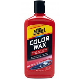 Formula 1 Color Wax - Red | Wax Dedicated Refurbishing Agent Cleaner Coating Polishing Protection Paint Care | Polish Paint Care Coloring Agent Stain Wax-SehgalMotors.Pk