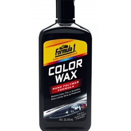 Formula 1 Color Wax - Black | | Wax Dedicated Refurbishing Agent Cleaner Coating Polishing Protection Paint Care | Polish Paint Care Coloring Agent Stain Wax