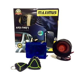 Maximus Car Alarm System Green Black Two Button-SehgalMotors.Pk