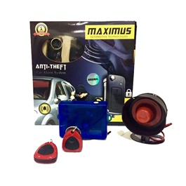Maximus Car Alarm System - Red Black Ferrari Style 3 Button-SehgalMotors.Pk