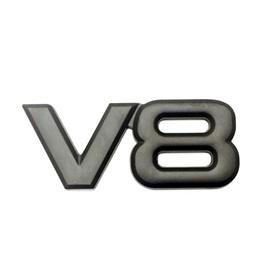 V8 Metal Monogram - Black   Emblem   Decal   Monogram   Logo-SehgalMotors.Pk