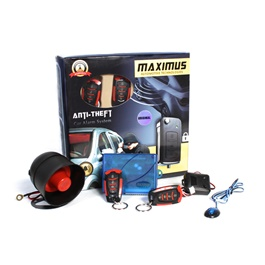 Maximus Car Alarm System - Ferrari Style 4 Button | Car Alarm Vehicle System Protection Security System Keyless Entry | Water Proof | Security System-SehgalMotors.Pk
