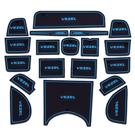 Honda Vezel PVC Interior Mats | Car Styling Non Slip Mats | Car Door Groove Mat Interior Cup Door Pad Gate Slot Mat Stickers Accessories-SehgalMotors.Pk
